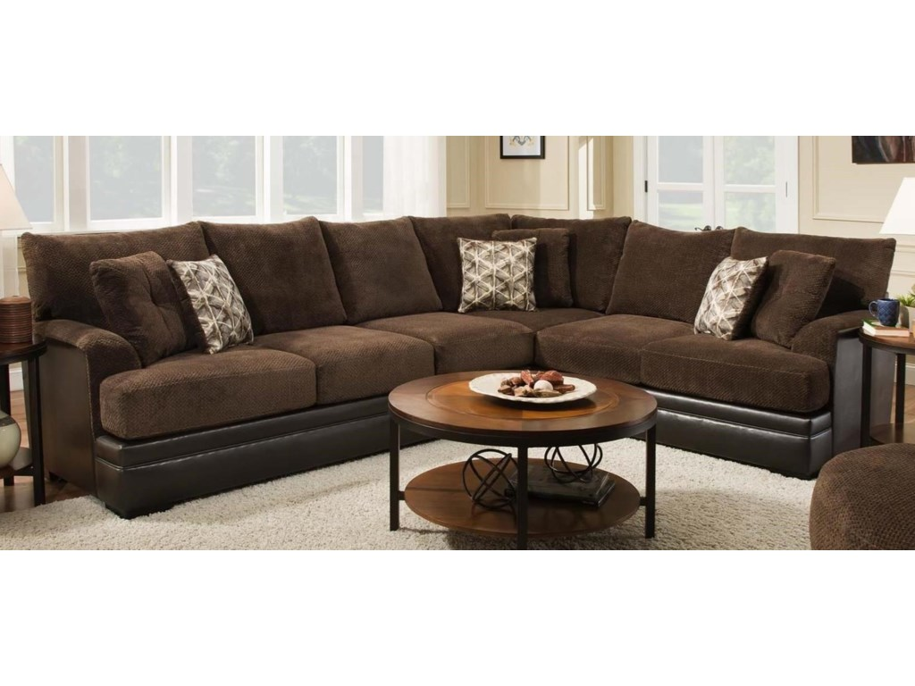 Albany 8640 2 Piece Two Tone Sectional Furniture And Appliancemart