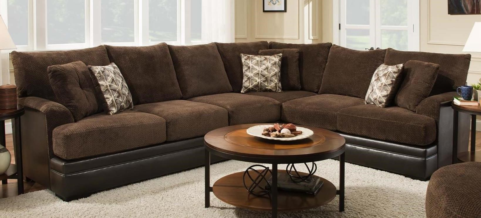 8640 2 Piece Two-Tone Sectional by Albany  sc 1 st  Furniture and ApplianceMart : two tone sectional sofa - Sectionals, Sofas & Couches