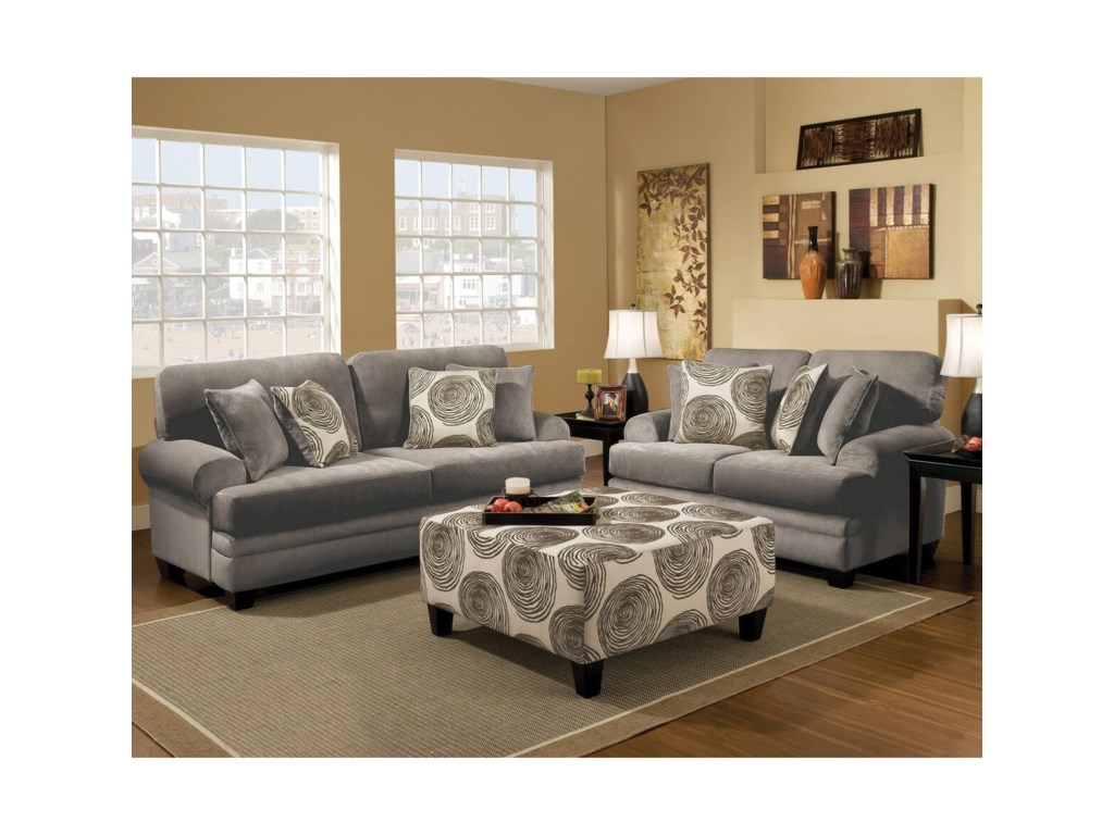 Albany 8642Transitional Loveseat