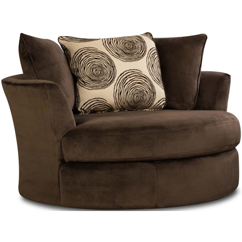 Albany WINFREY Transitional Swivel Chair with Round Shape