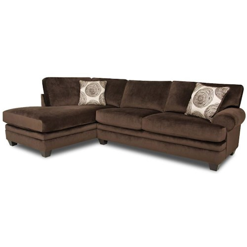 Albany winfrey transitional sectional sofa with chaise for Albany saturn sectional sofa chaise