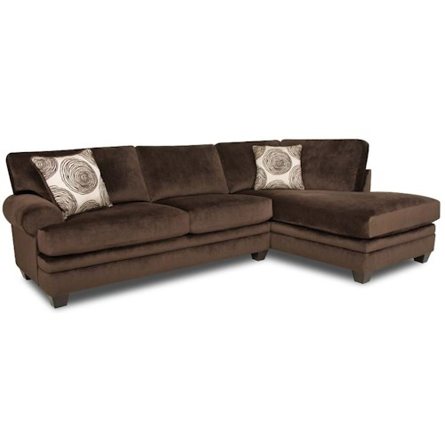 Albany 8642 transitional sectional sofa with chaise a1 for Albany saturn sectional sofa chaise