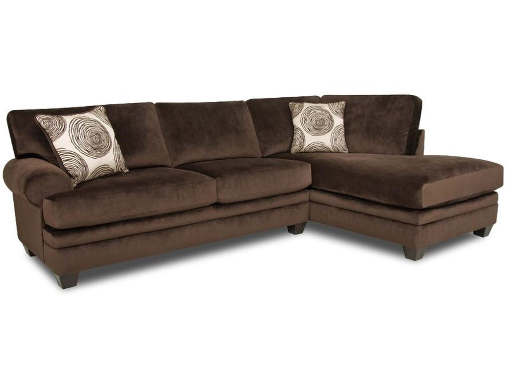 Albany 8642 Transitional Sectional Sofa with Chaise | Furniture and ...