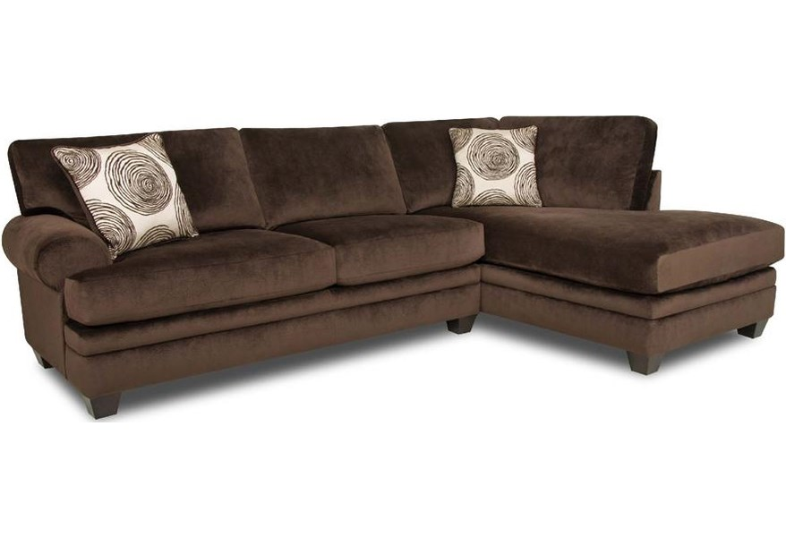 8642 Transitional Sectional Sofa With Chaise By Albany At Furniture And Liancemart