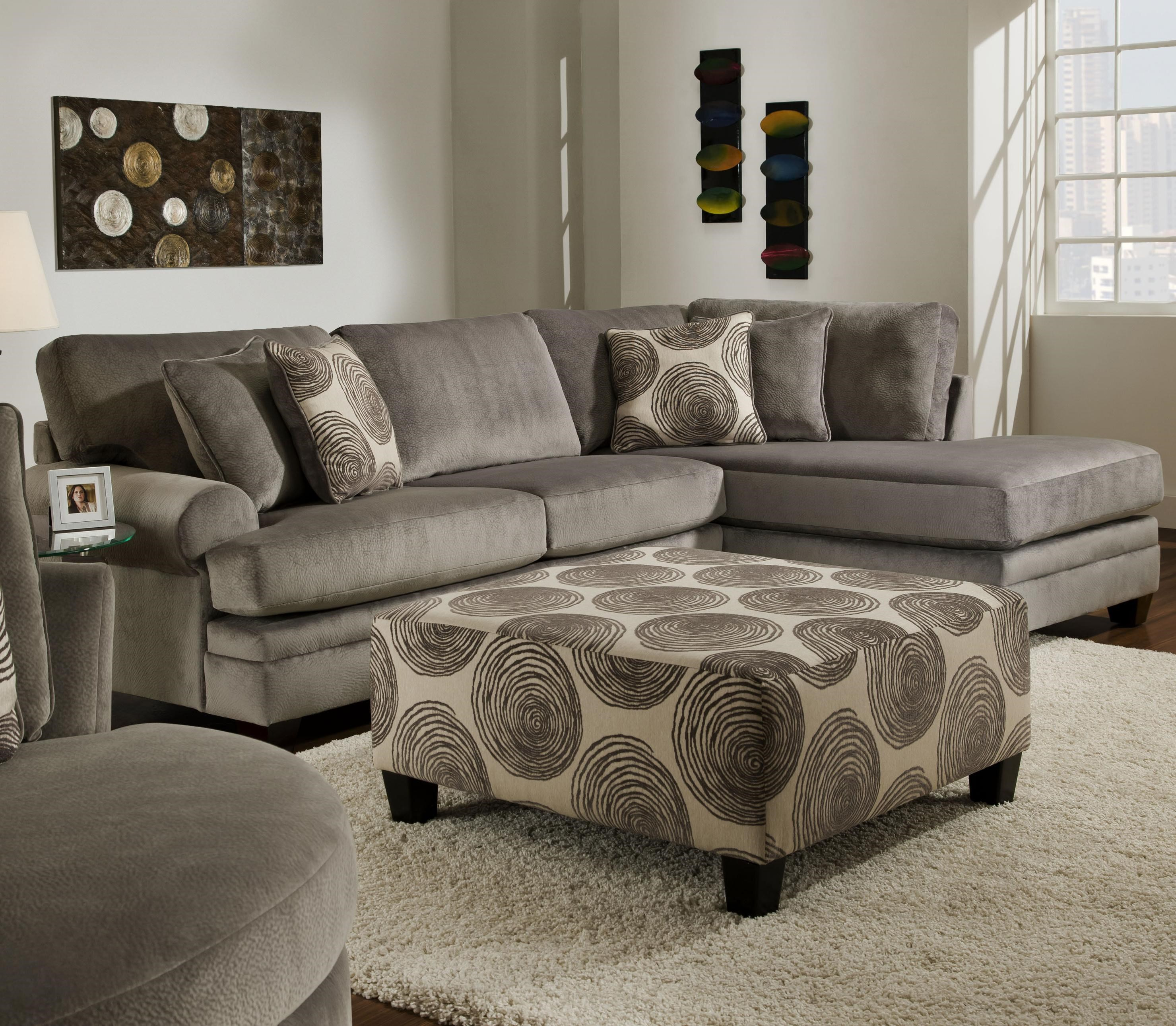 Attirant Albany 8642 Transitional Sectional Sofa With Chaise
