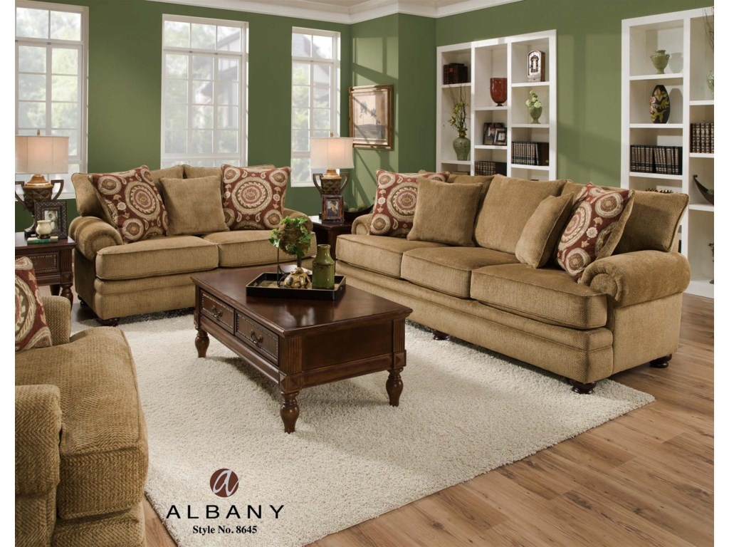 Albany 8645Stationary Living Room Group