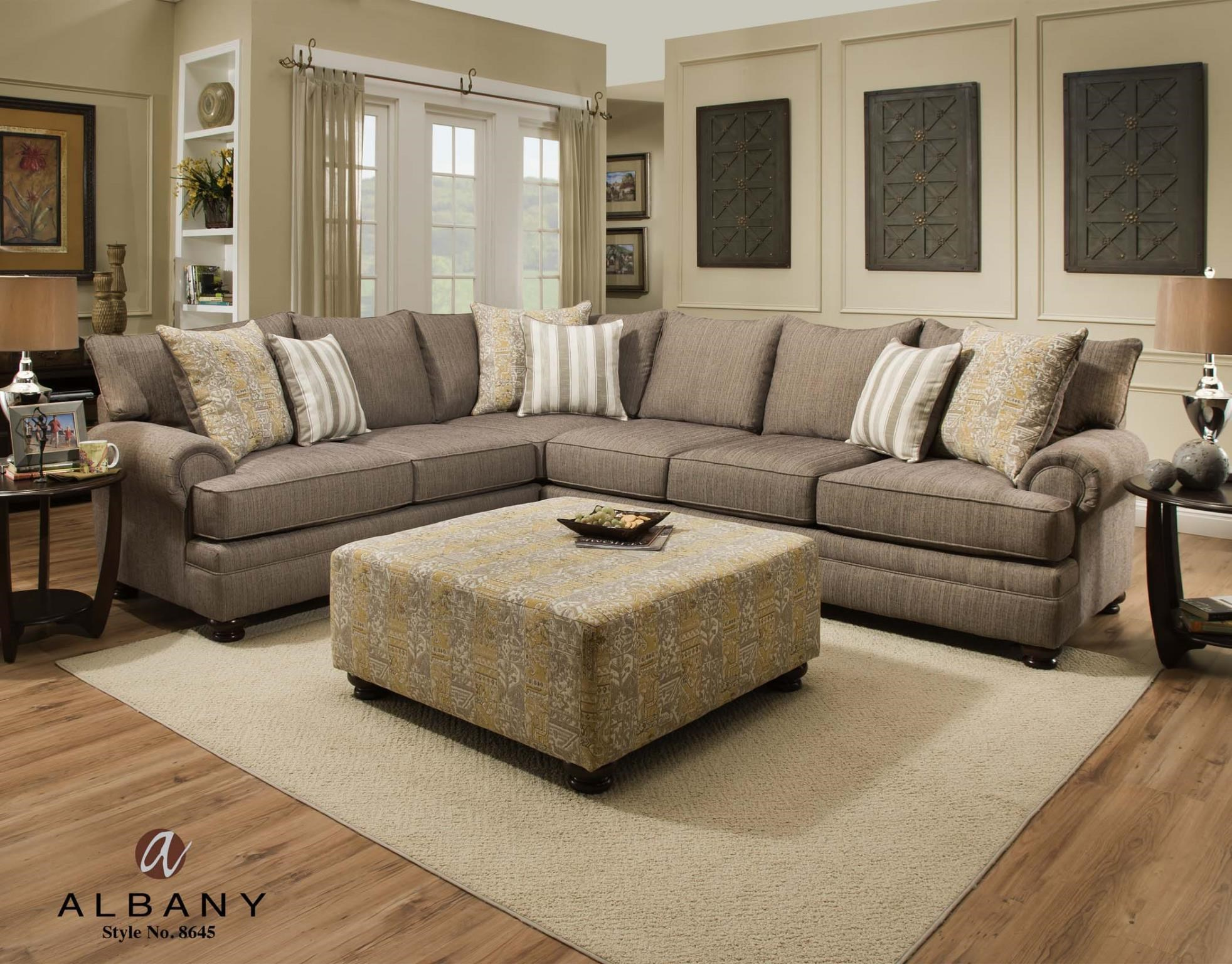 Exceptionnel Albany 8645Transitional Sectional