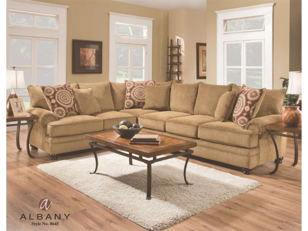 Albany 8645Transitional Sectional