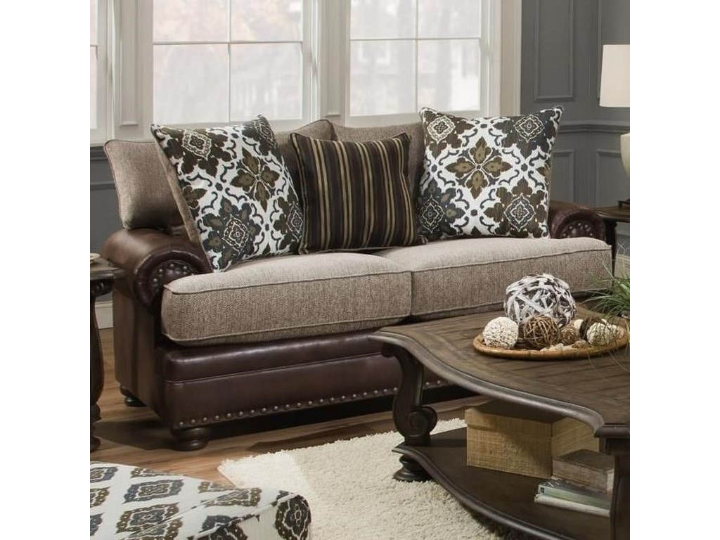 Albany 8647Traditional Loveseat