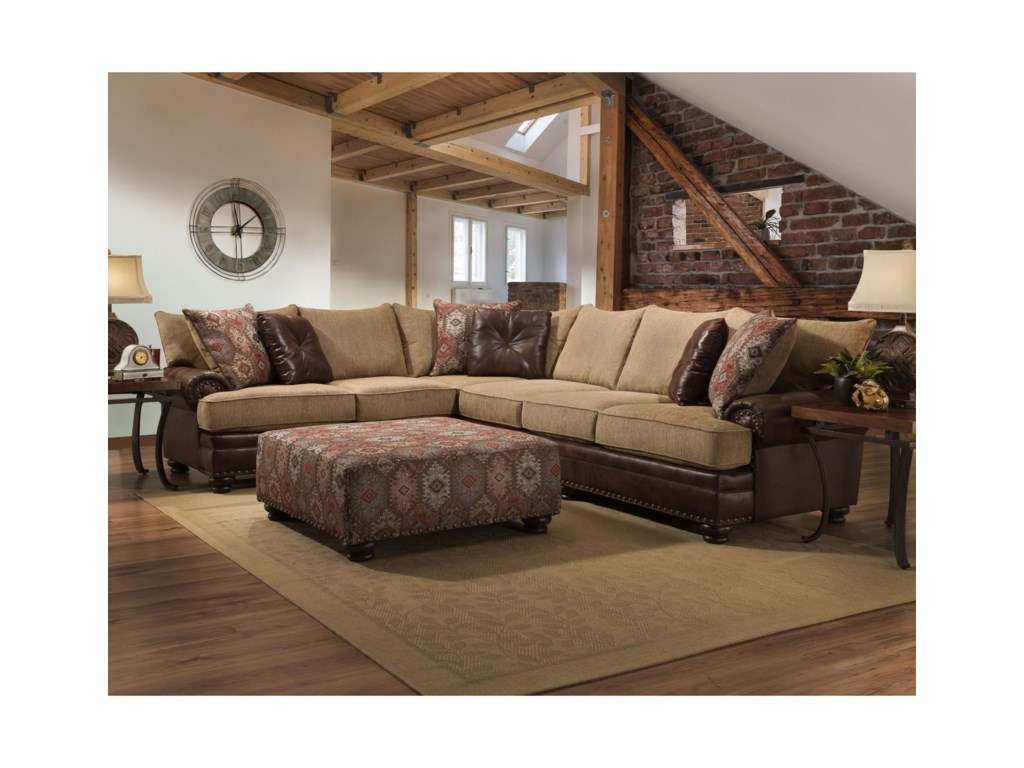 Albany 8649Sectional Sofa