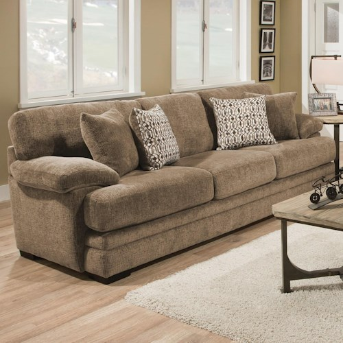 Albany 8662 Casual Sofa with Plush Pillow Arms