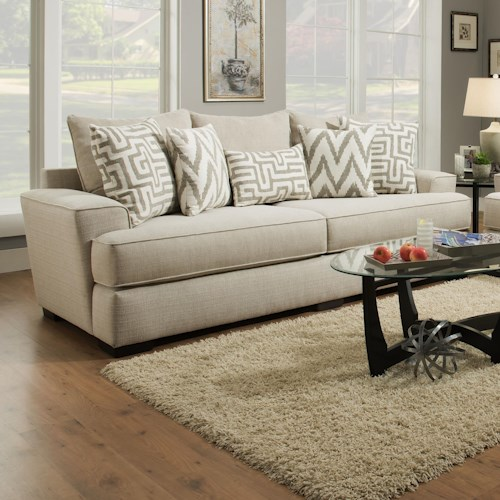 Albany 8686 Transitional Sofa with Wide Arms