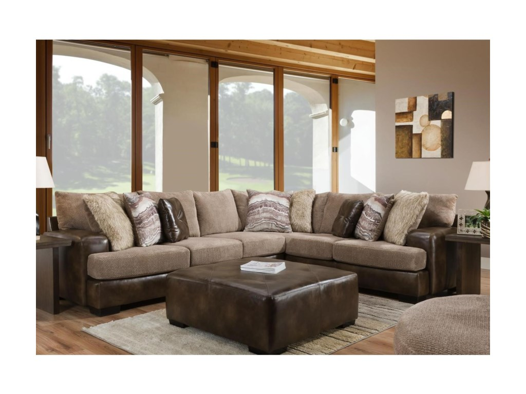 Albany 8782Casual Sectional
