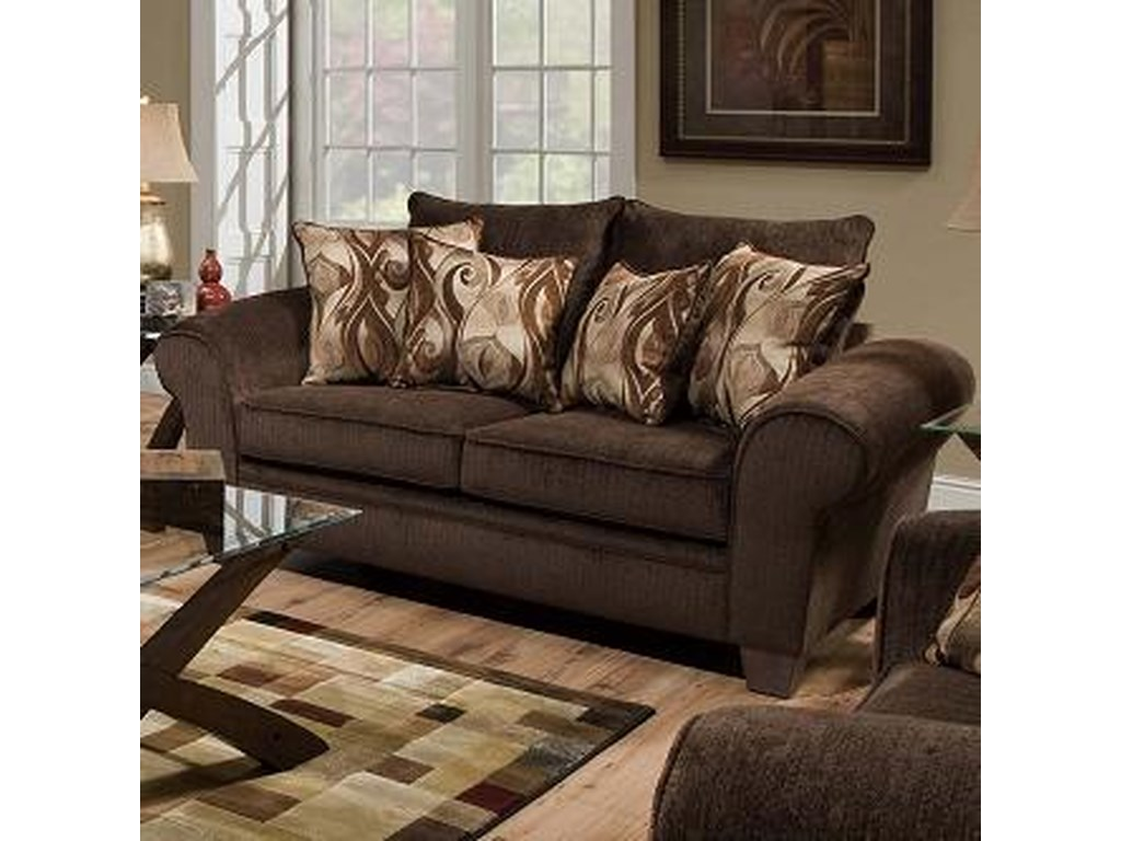 Albany 910Transitional Loveseat