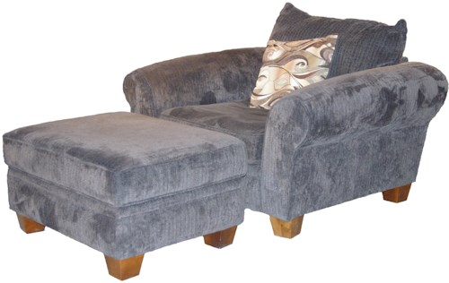 Albany 910 Transitional Chair and Ottoman Set