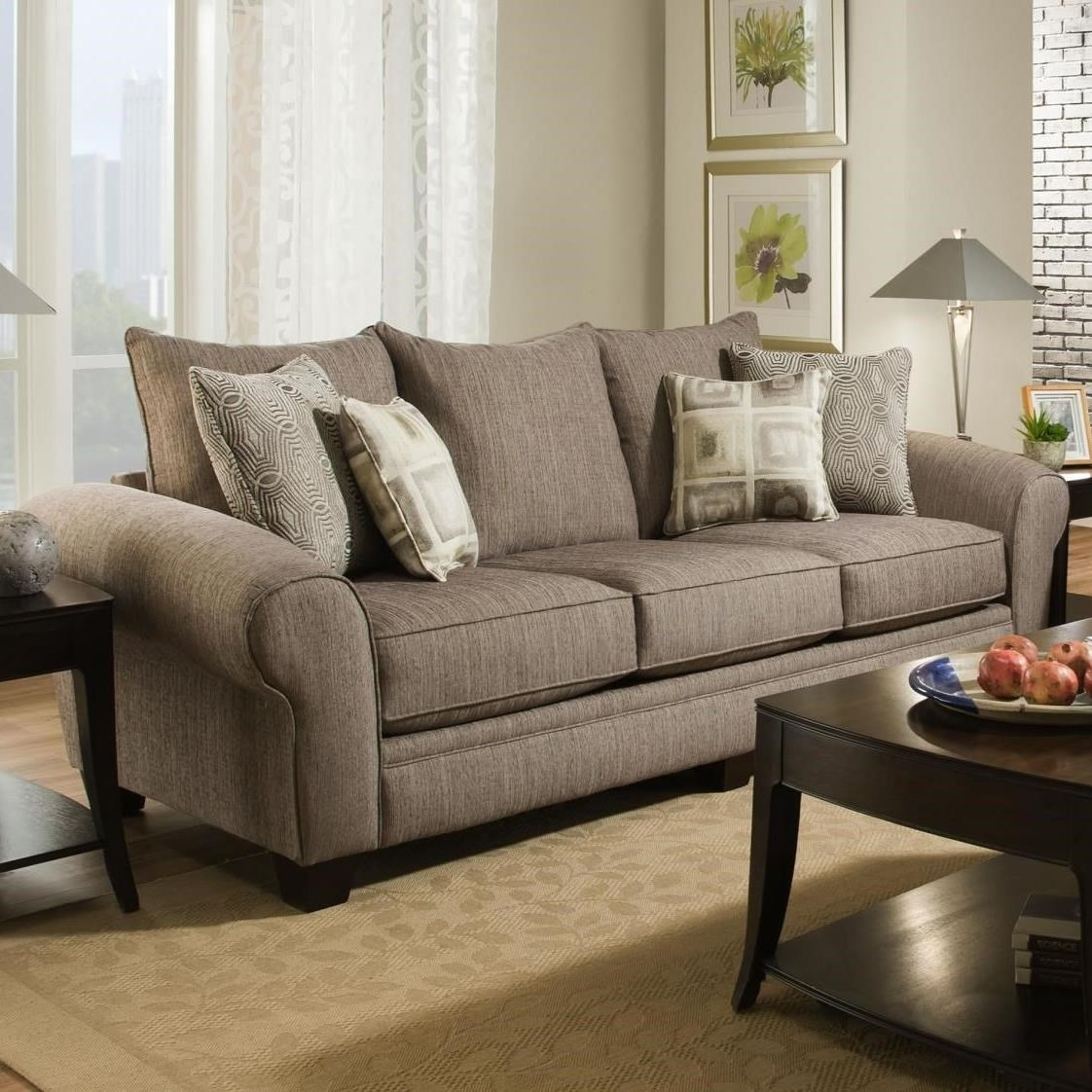 Exceptional Albany 911 3 Seater Sofa With Large Rolled Arms