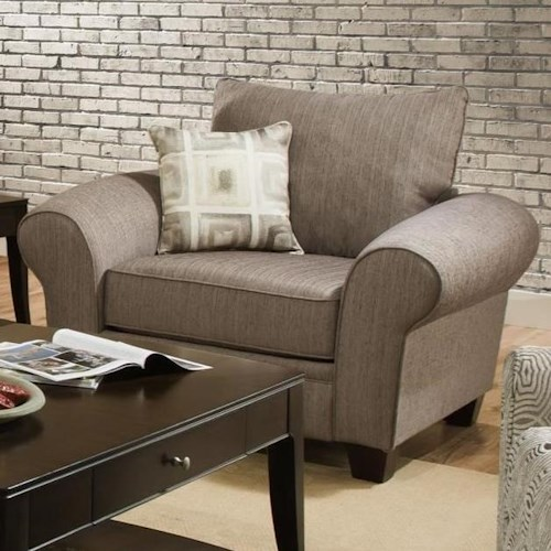 Albany 911 Upholstered Chair with Loose Back Cushion