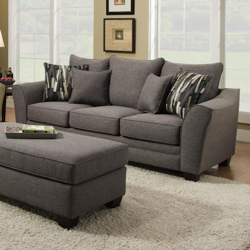 Albany 957 Transitional Sofa with Flared Arms