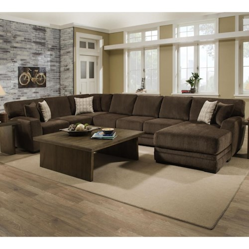 Albany 968 3 Pc Sectional with RAF Chaise