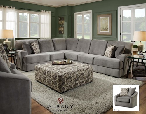 Albany 977 Transitional Sectional Sofa