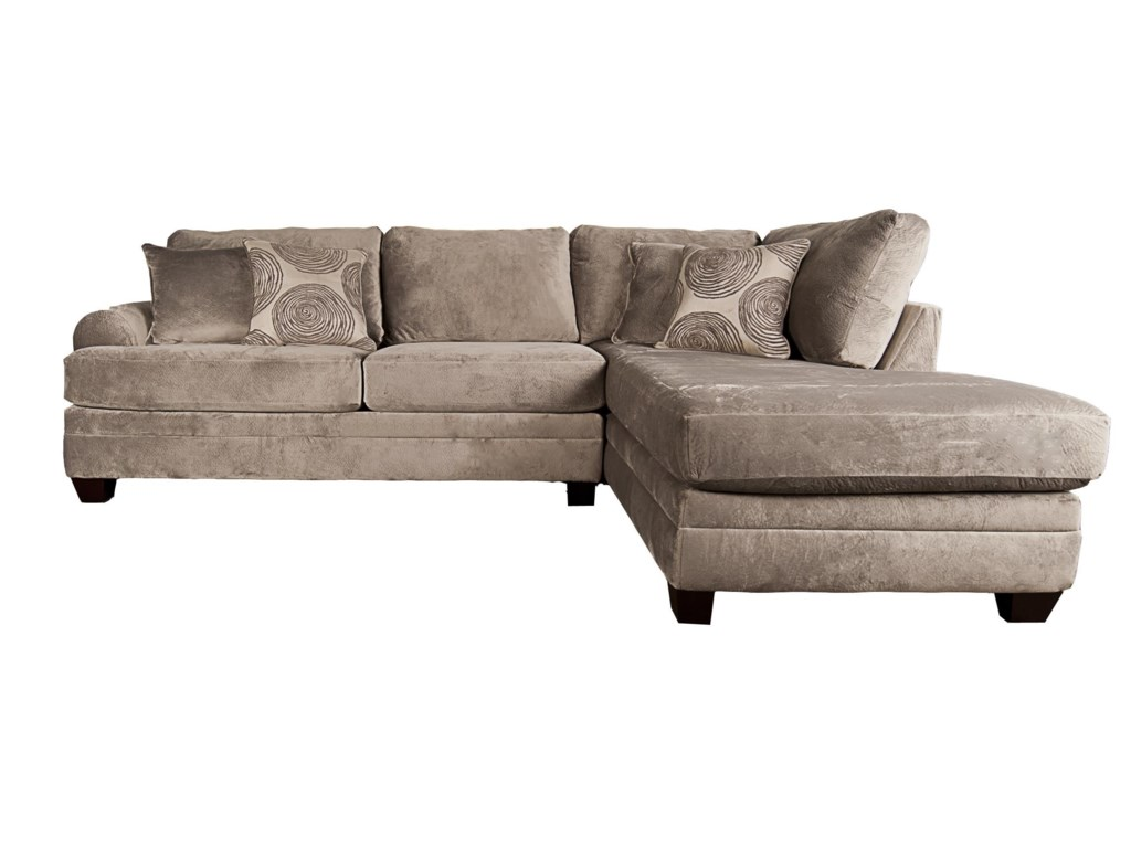 Agustus Sectional Sofa with Accent Pillows | Morris Home | Sectional ...