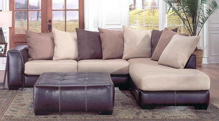 Laredo Sofa And Loveseat: Albany 348 Laredo Contemporary 2 Piece Sectional With RAF