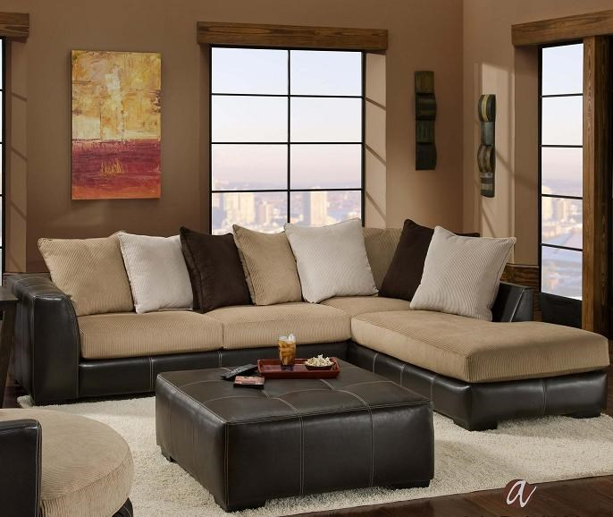 Albany Calico Contemporary 2 Piece Sectional With RAF Chaise