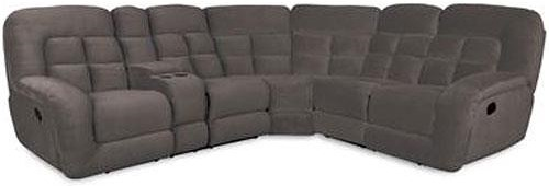 Albany P1808 Casual Reclining Sectional with Cup Holders