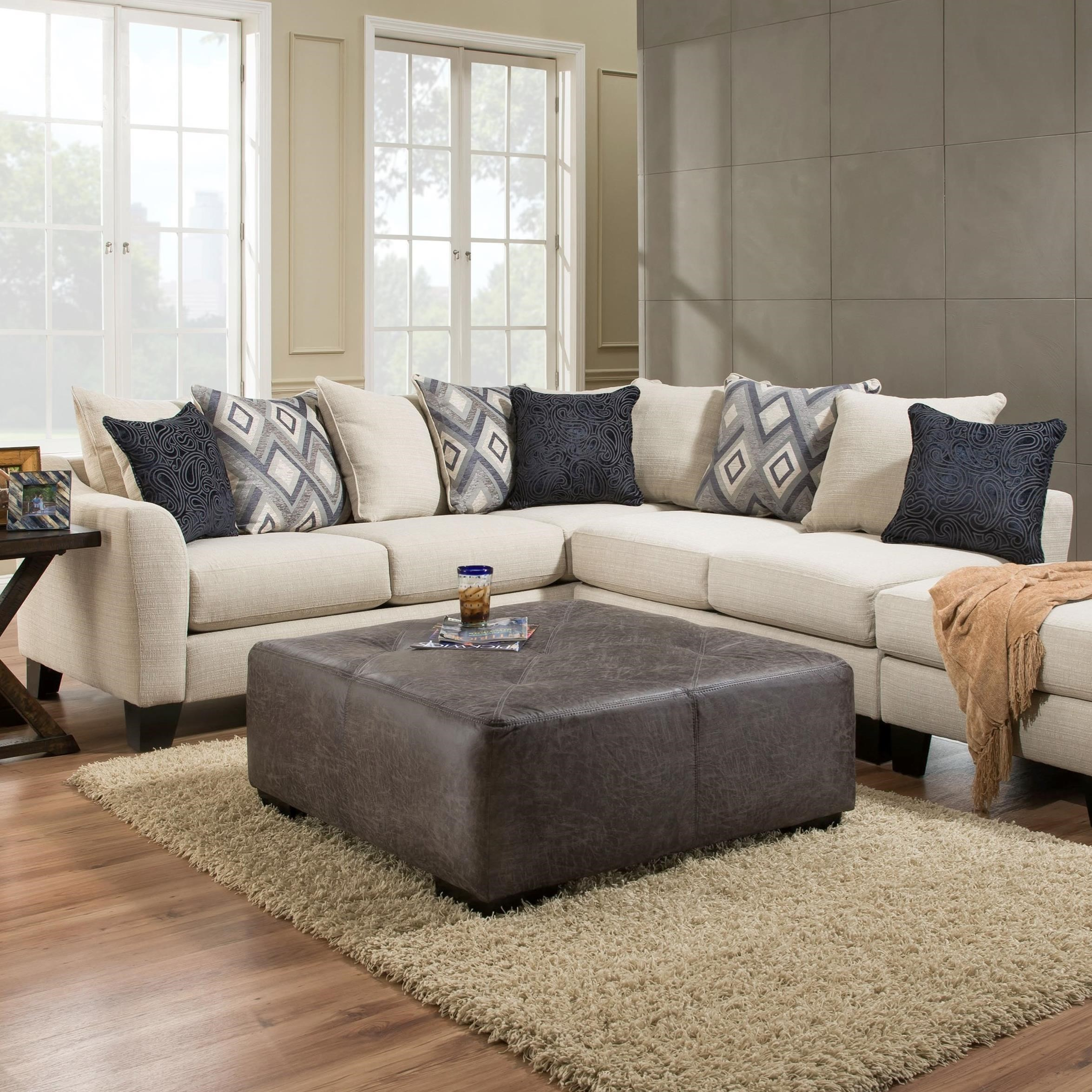 Albany R759 2 Piece Sectional Sofa In Dynasty Cream Fabric