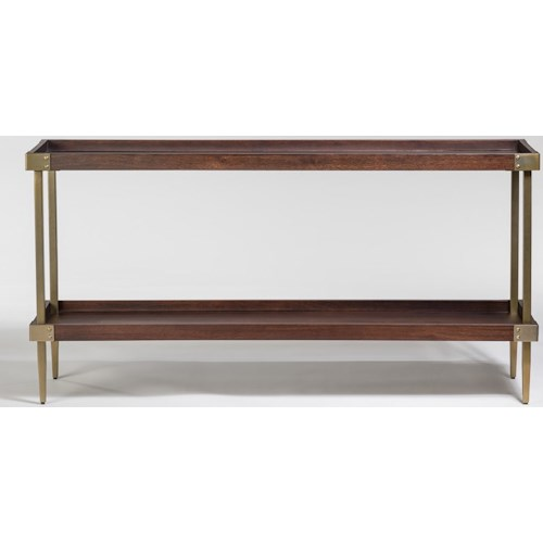 Alder & Tweed Avenue Console Table with Tray Top