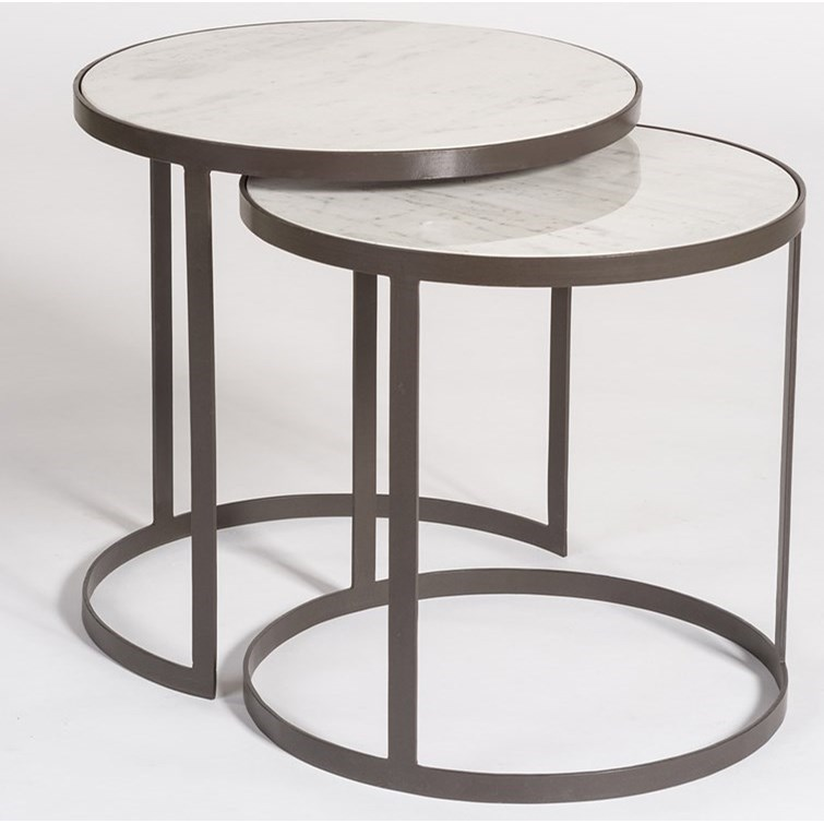 Alder U0026 Tweed Beverley Round Nesting Tables With Marble Tops