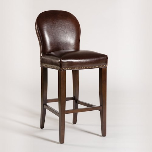 Belfort Leather Claremont Counter Height Stool with Leather Back and Seat