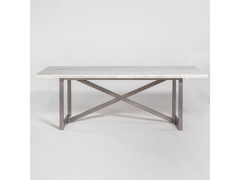 Menlo Park 88 Marble And Metal Dining Table By Alder Tweed