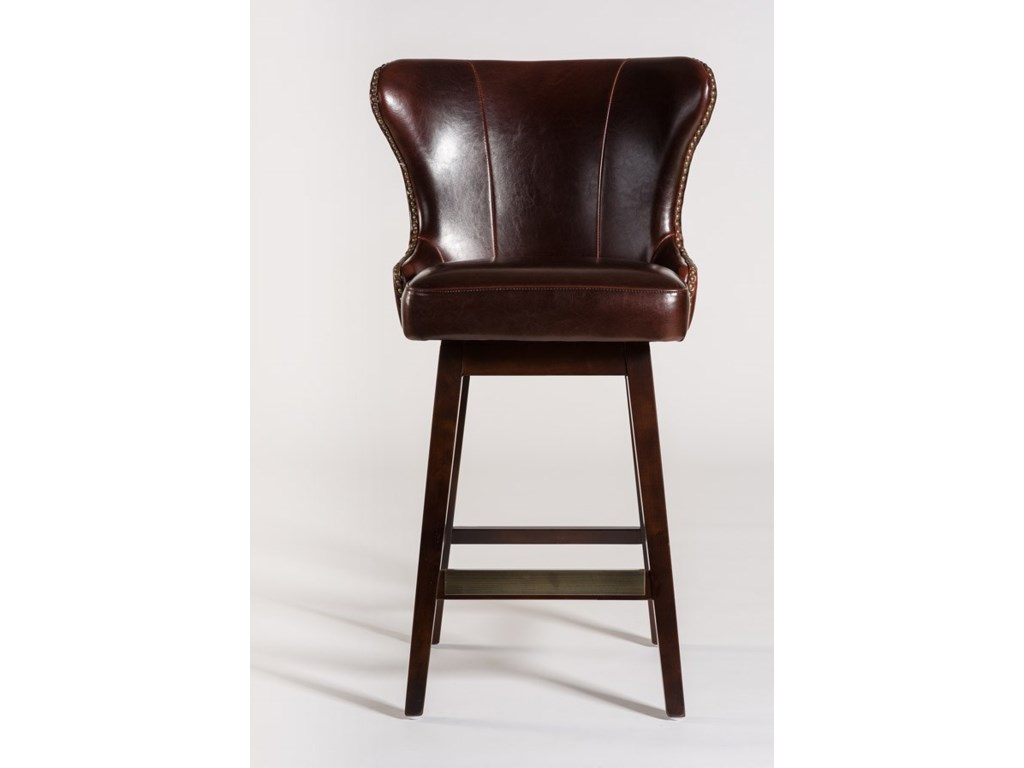 Belfort leather rockwellupholstered leather bar stool