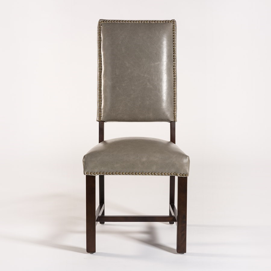 Alder U0026 Tweed Weston Dining Side Chair With Leather Back And Seat