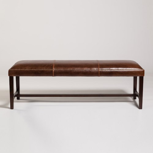 Belfort Leather Weston Dining Bench with Traditional Style
