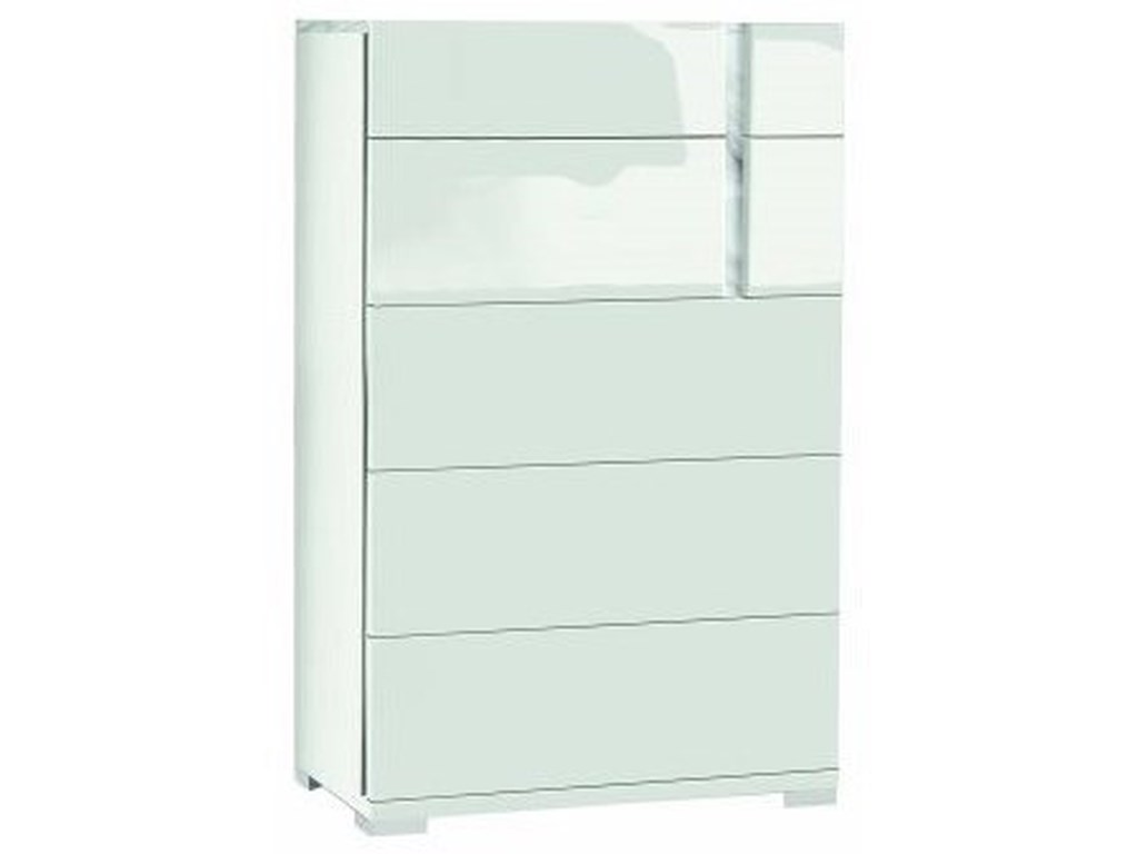 Alf Italia Bianca5-Drawer Chest