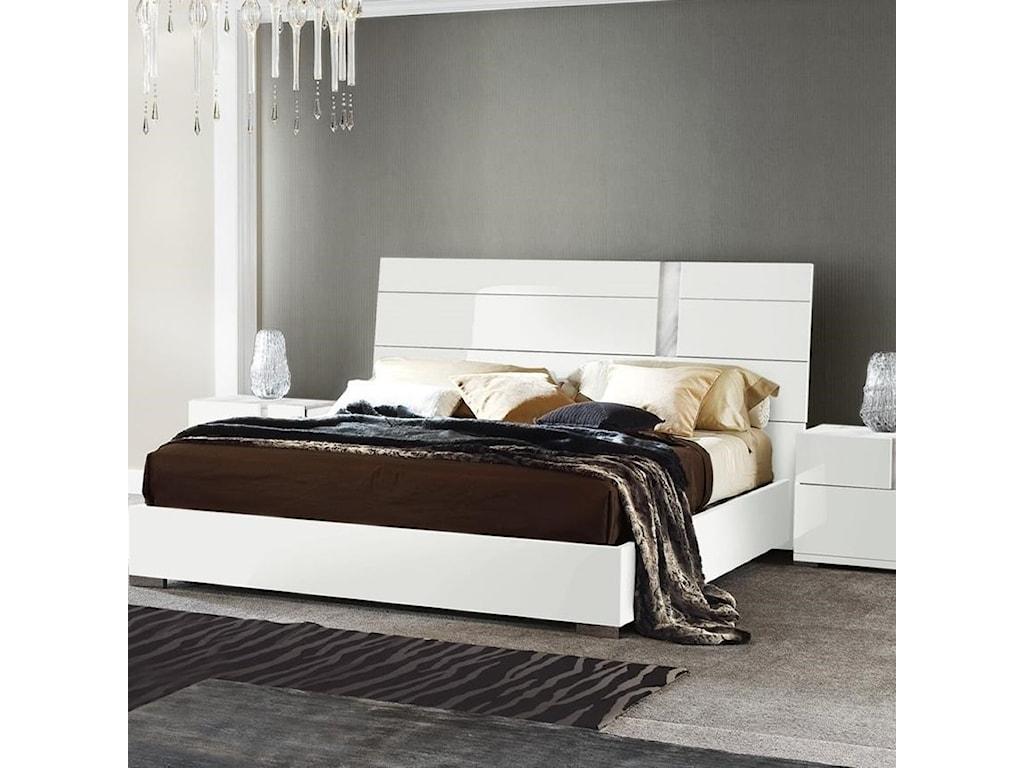 Alf Italia BiancaQueen Low Profile Bed