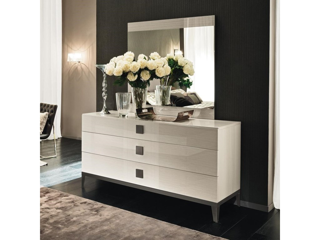 Alf Italia Mont Blanc3 Drawer Dresser and Mirror