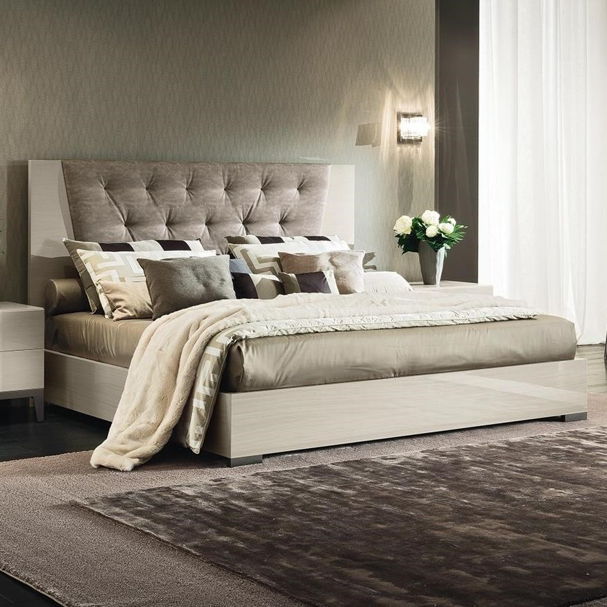 Alf Italia Mont Blanc Queen Upholstered Bed