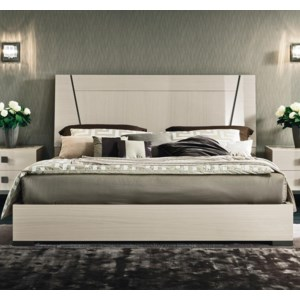 Alf Italia Mont Blanc Queen Low Profile Bed With Wood Headboard Stoney Creek Furniture Platform Beds Low Profile Beds
