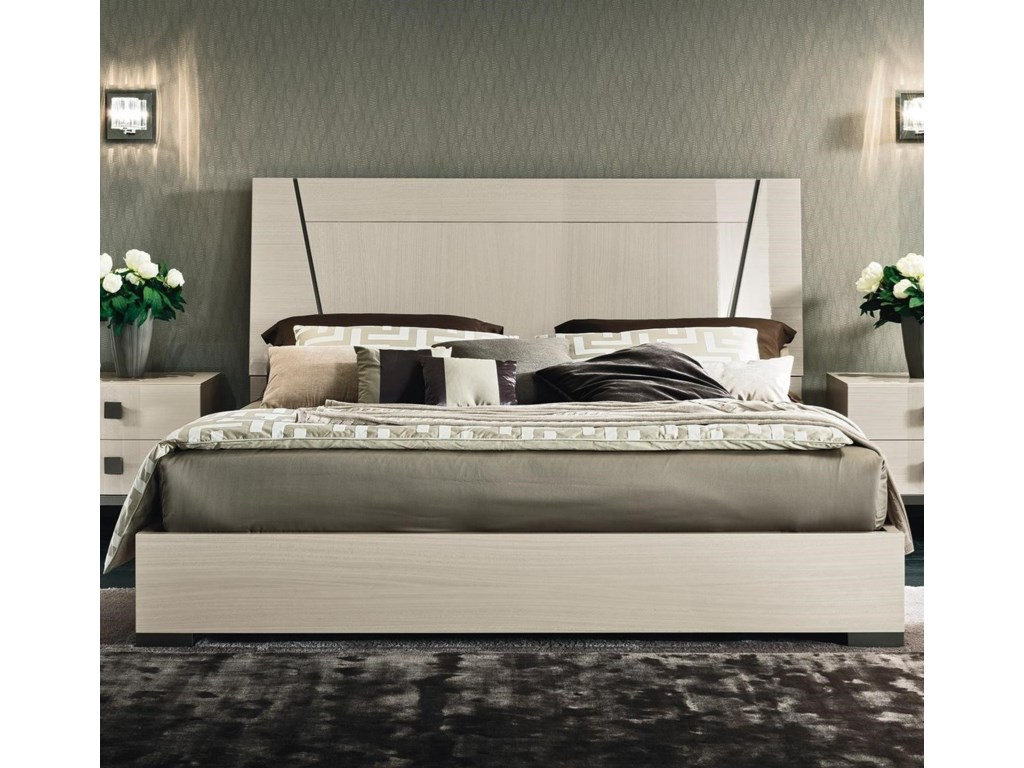 Mont Blanc Queen Low Profile Bed With Wood Headboard By Alf Italia At Stoney Creek Furniture