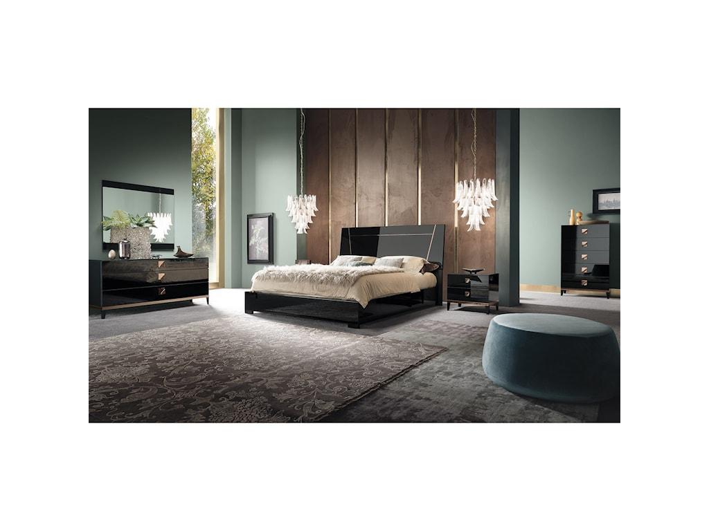 Alf Italia Mont NoirQueen Bed