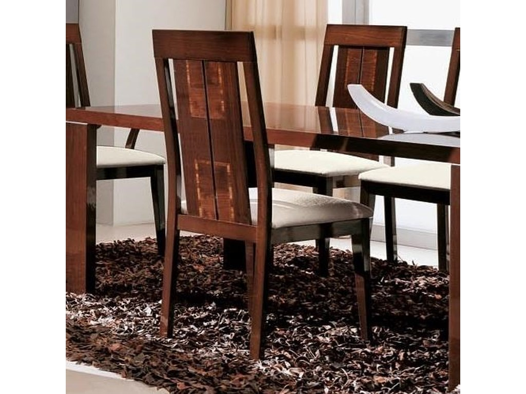 Alf Italia Pisa Dining Side Chair With Upholstered Seat