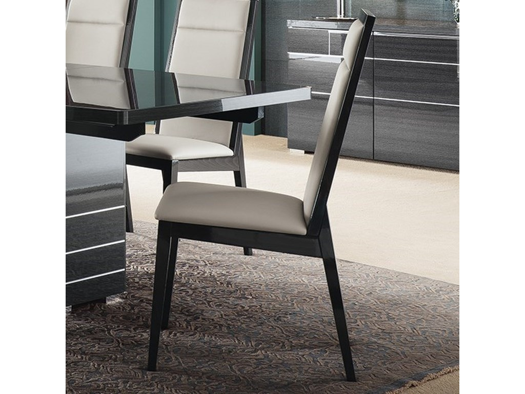 e993016c344d Alf Italia Versilia Contemporary Dining Chair with Upholstered Seat and  Seatback