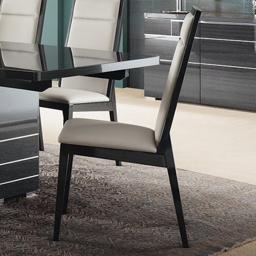 Alf Italia Versilia Contemporary Dining Chair With Upholstered Seat And Seatback