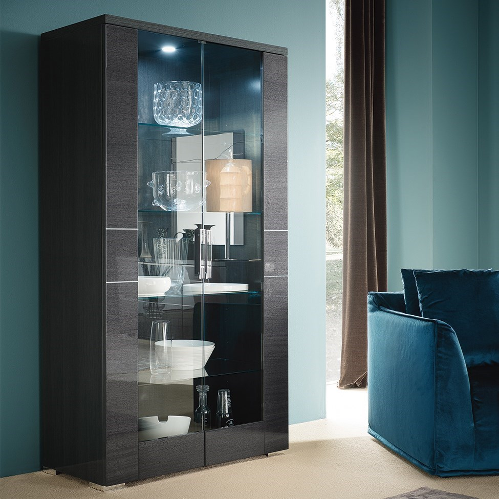 Alf Italia VersiliaCurio Cabinet ...  sc 1 st  Stoney Creek Furniture & Alf Italia Versilia Contemporary Curio Cabinet with Built In ...
