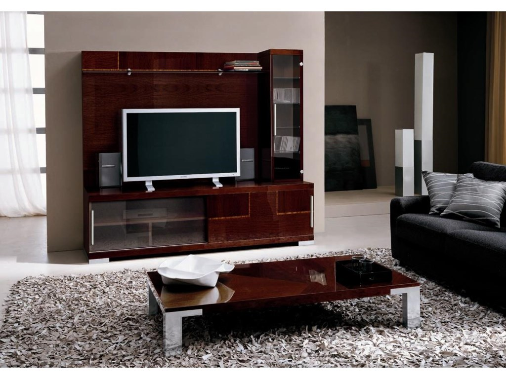 Alf Italia Pisa Entertainment Center | HomeWorld Furniture | Wall Unit