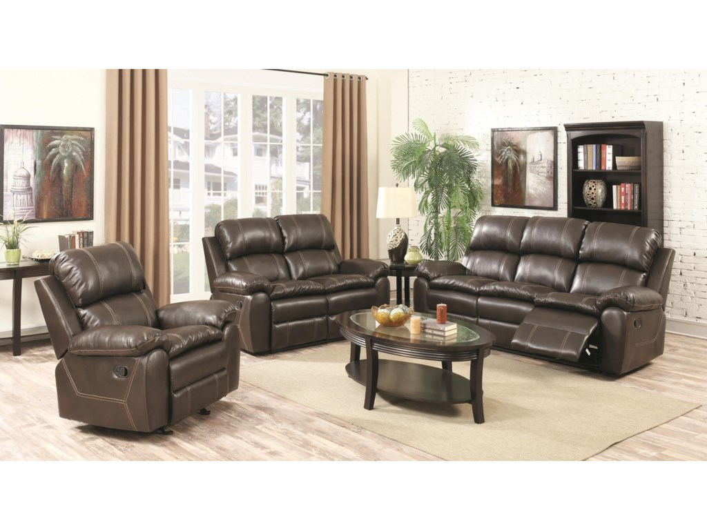 Amalfi Home Furniture BurlingtonRecliner Sofa, Recliner Loveseat w/ Console