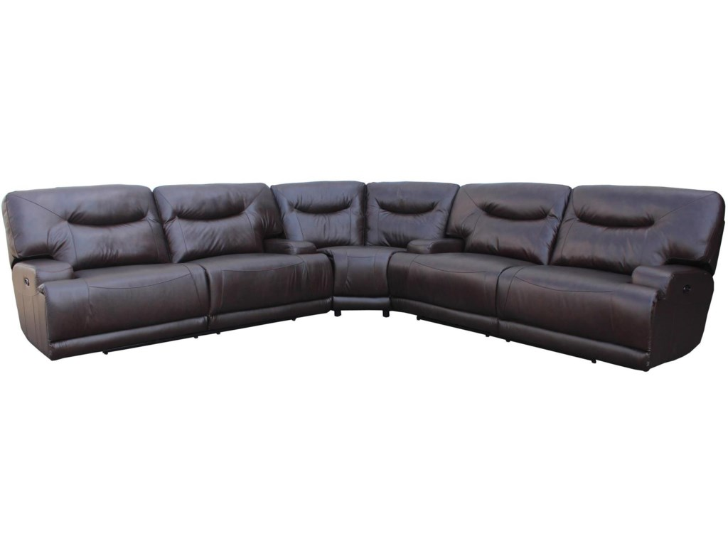 Amalfi Home Furniture TeddyPower Reclining Sectional